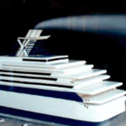 Exhaust emission testing on boat model